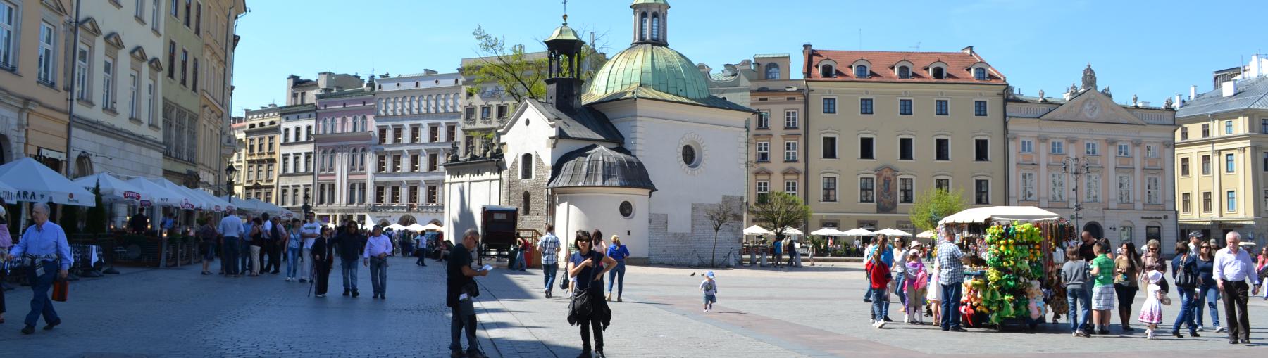 Krakau - het Marktplein