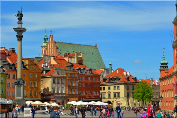 Warschau, in het oude centrum